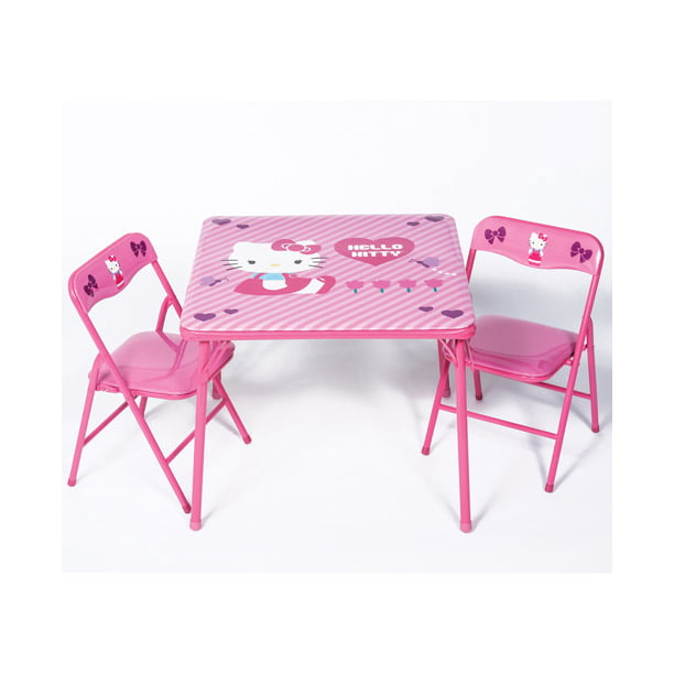 hello kitty activity table and chairs set  walmart