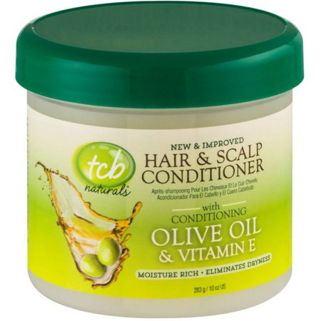 4 Pack - TCB Naturals Hair & Scalp Conditioner With Olive Oil & Vitamin E 10 -