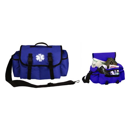 Ultimate Arms Gear Deluxe Heavy Duty Navy Blue EMS/EMT Emergency Medical Paramedic Rescue Supplies Gear Pack Trauma Equipment First Aid Kit Carry Rescue Shoulder Bag