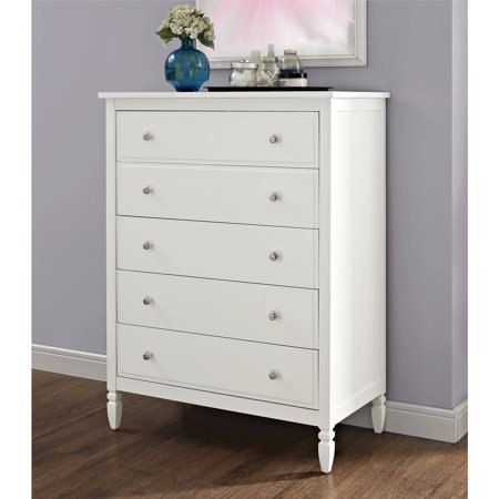 Better Homes And Gardens Lillian 5 Drawer Chest White