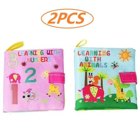 Magicfly 4 Pcs Baby Soft Cloth Activity Books for 0-4 Years Girls Boys Education