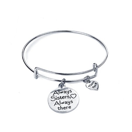 Heepo Always Sister Always There Letter Friendship Bracelet Expandable Bangle Jewelry (Friend Ship Bracelets)