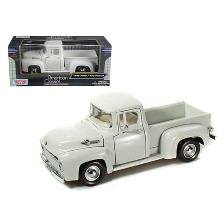 1 by 24 1956 Ford F-100 Pickup Diecast Car Model - White ()