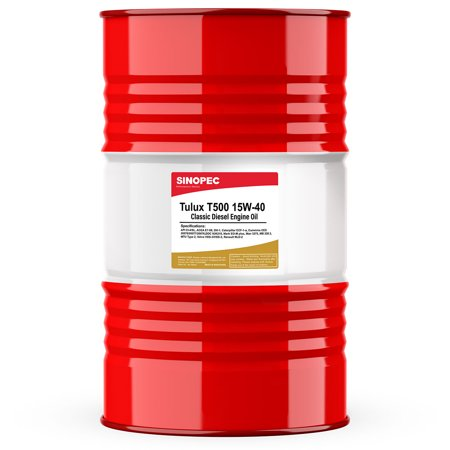 (3 Pack) 15W40 T500 Diesel Engine Oil - 55 Gallon (Weight Of 55 Gallon Drum Of Oil)