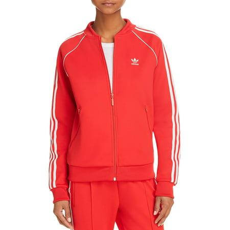 adidas Originals Womens Fitness Running Track Jacket Red S