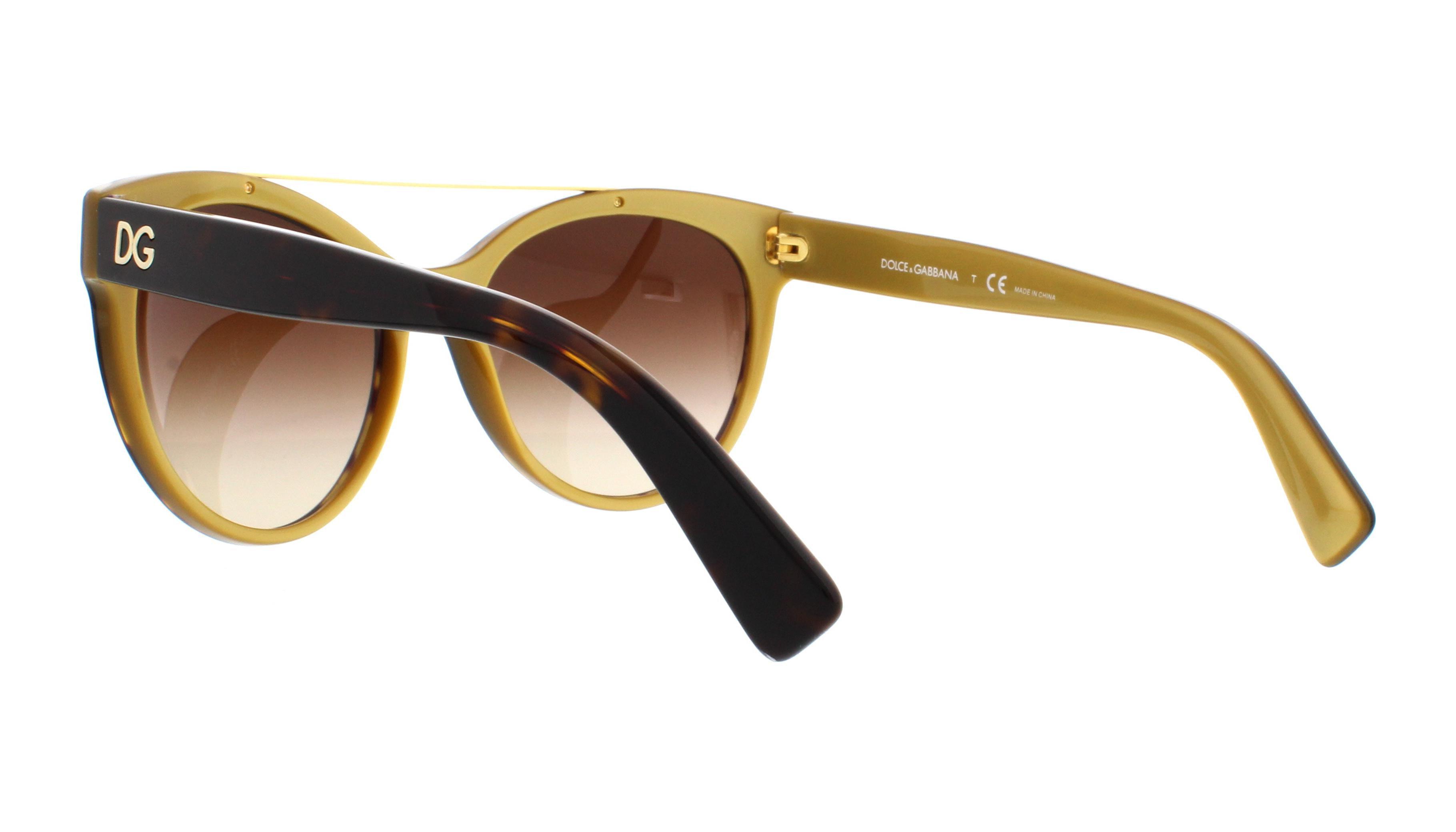 11ae75d5f54e Dolce   Gabbana - DOLCE   GABBANA Sunglasses DG4280 29558G Top Black On Gold  57MM - Walmart.com