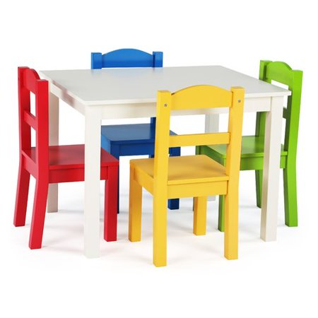 41962acdfb1 Harriet Bee Ogallala Kids  5 Piece Rectangular Table and Chair Set -  Walmart.com