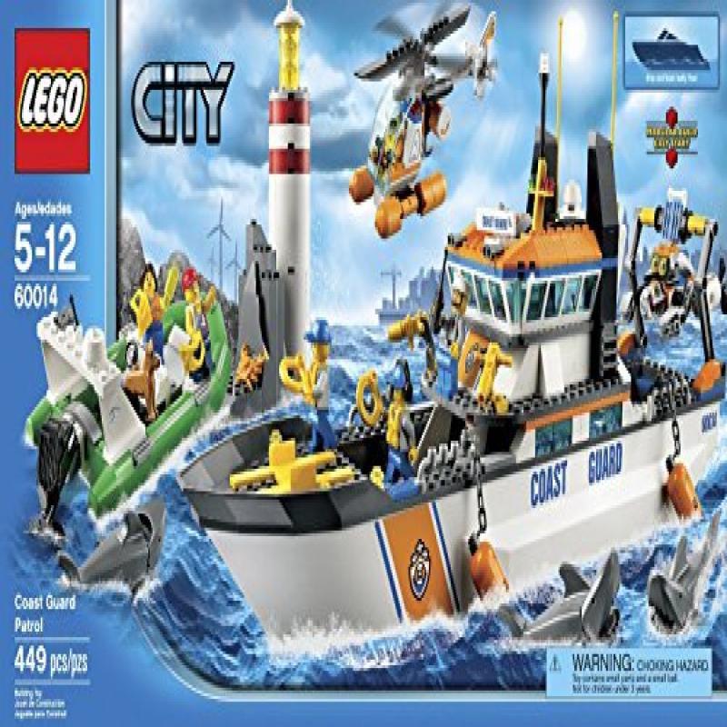 Lego City Coast Guard Patrol (449pcs) Figures Building Block Toys