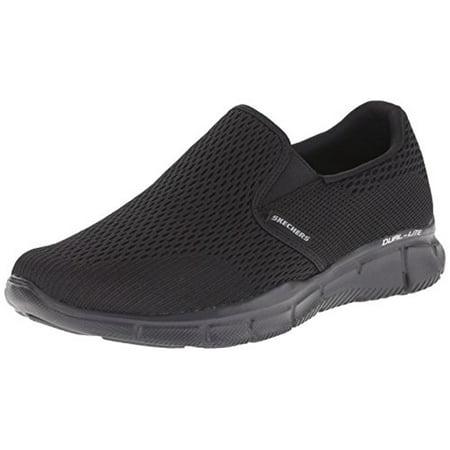 7ef9e3290ef Skechers - 51509 W Wide Fit Black Skechers Shoes Men Gel Memory Foam  Comfort Slip On Casual - Walmart.com