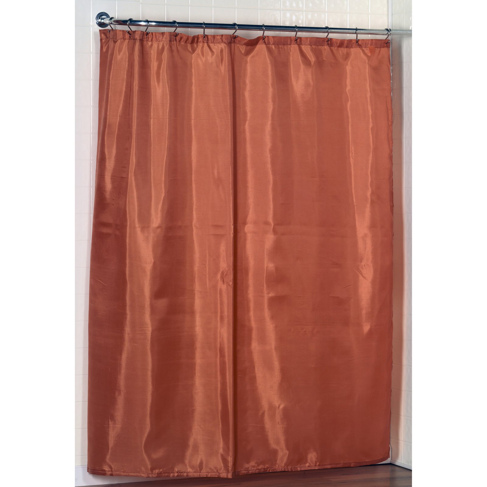 Standard Sized Polyester Fabric Shower Curtain Liner In Tangerine Walmart Com Walmart Com