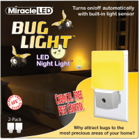 Miracle LED Indoor Yellow Bug Night Light blue blocking LED (2 Pack)