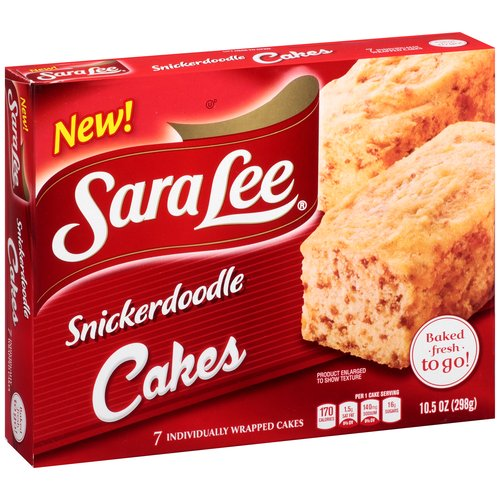 Sara Lee Snickerdoodle Cakes, 7 count, 10.5 oz