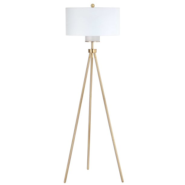 Safavieh Enrica 66 In H Glam Floor Lamp Brass Gold Walmart Com