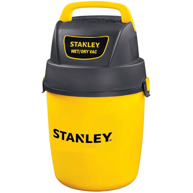 Stanley 2-gallon, 2-peak horse power, Hang-Up wet dry vacuum