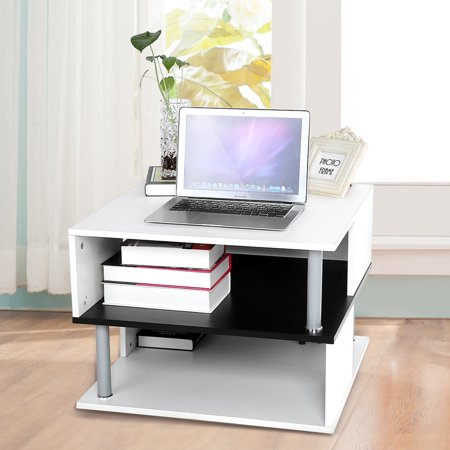 Modern Stylish Coffee Table Layers Gloss Tea Table Fruit Books - Coffee table with book storage
