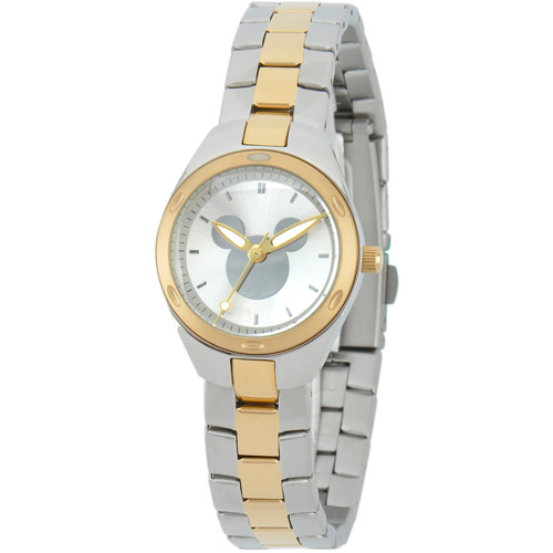 Disney Mickey Mouse Women's Fortaleza Stainless Steel Watch, Two-Tone Bracelet