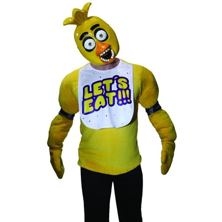 Five Nights at Freddy's Chica Costume Half Mask (Five Nights At Freddy's Halloween Mask)