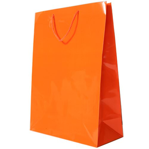 JAM Gift Bags - X-Large - 12 1/2 x 17 x 6 - Orange Glossy...