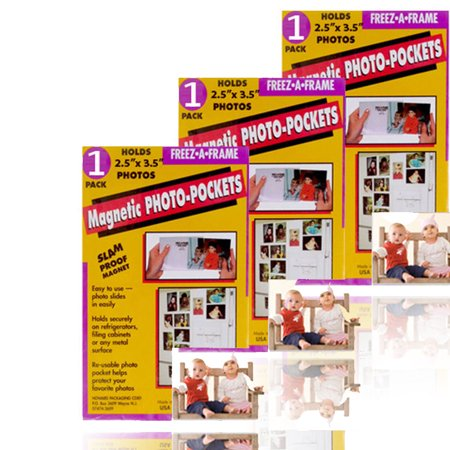 Heart Magnet Frame (Freez A Frame 2.5X3.5 Magnet Frame 3 Pack )