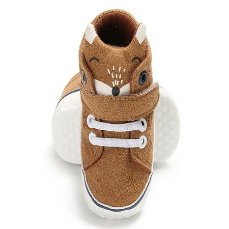 f5ff3664046 Baby Girl Boys Fox Hight Cut Shoes Sneaker Anti-slip Soft Sole Toddler -  Walmart.com