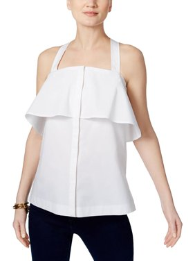 fbb668f08fc14 Product Image MICHAEL Michael Kors Womens Woven Sleeveless Pullover Top