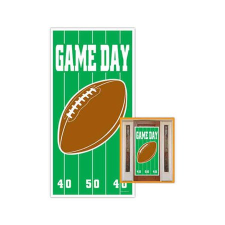 Beistle - 50007 - Game Day Football Door Cover- Pack of 12