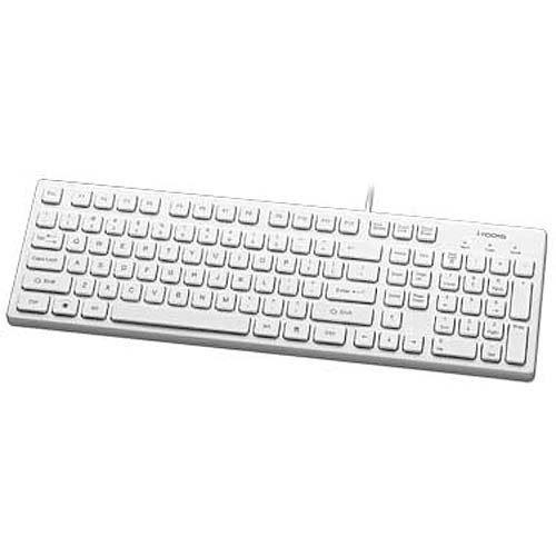 I-rocks Kr-6401-wh - 103-key Slim Keyboa