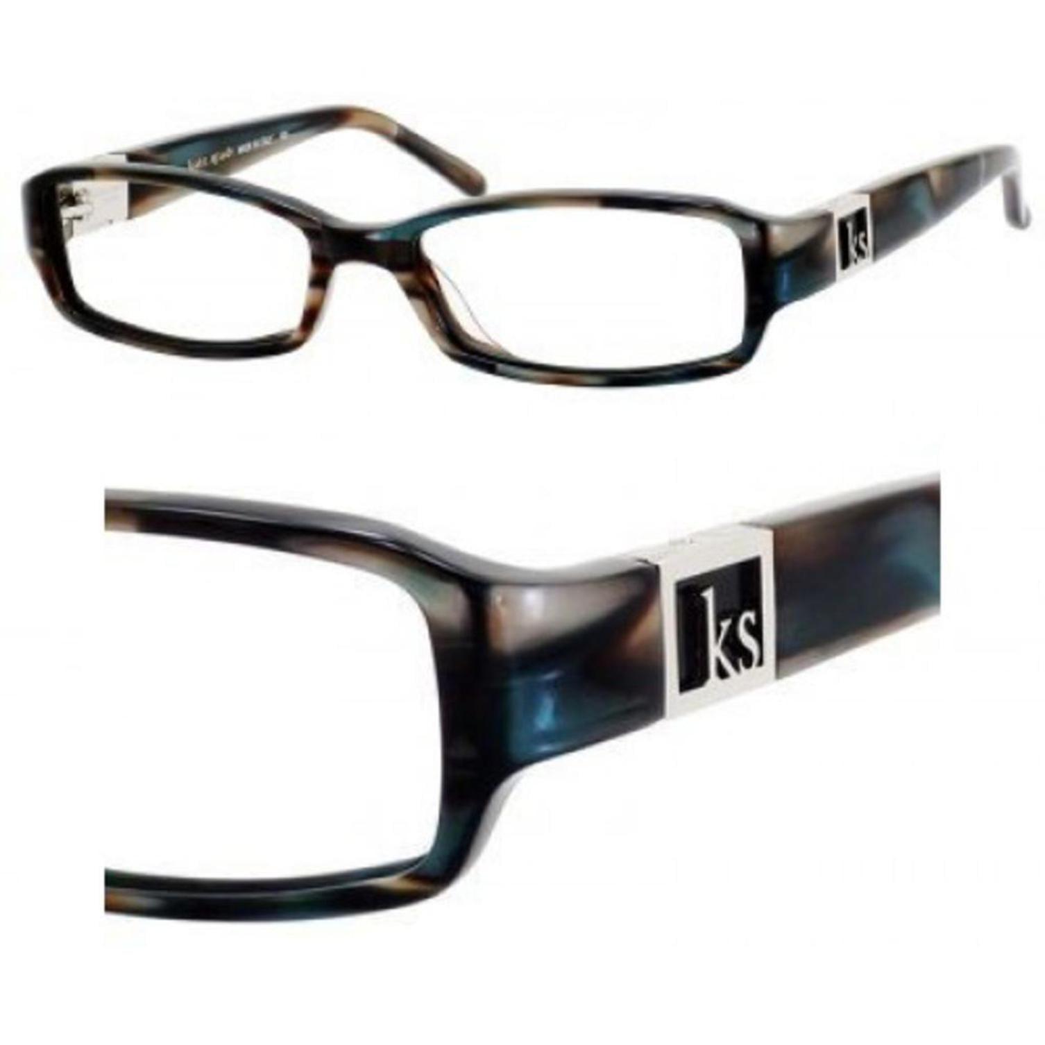 Kate Spade FLORENCE-0IC8-53 Rectangle Womens Abalone Frame Clear Lens Eyeglasses