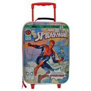 Marvel Comics Spider-Man Soft Side Trolley Kids Carry-on Luggage Case 16 Inch