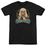 Saturday Night Live Party On Garth Mens Adult Heather Ringer Shirt