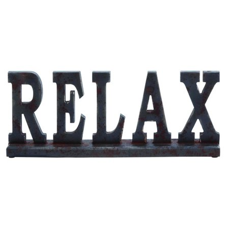 Wood Table Top Sign Placard That Says Relax Chocolate Brown Accent D Cor 93806