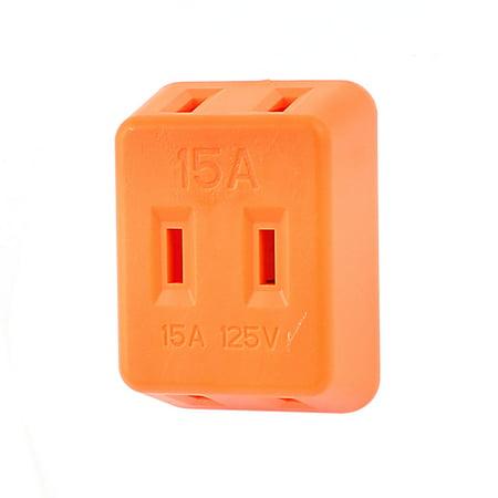 Three Way Socket - Unique Bargains Universal 2 Terminals 3 Ways US Plug Power Socket  125V 15A Orange