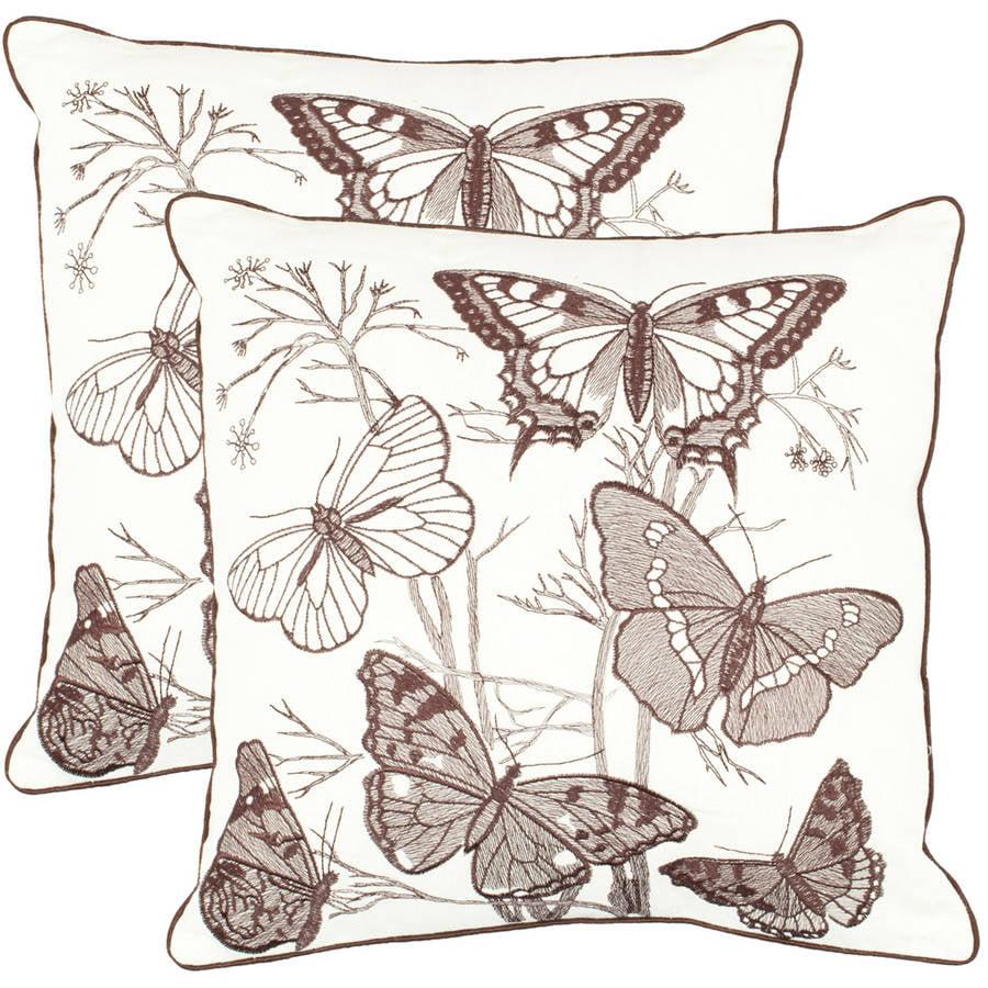 Safavieh Flutter Butterflies Pillow, Set of 2