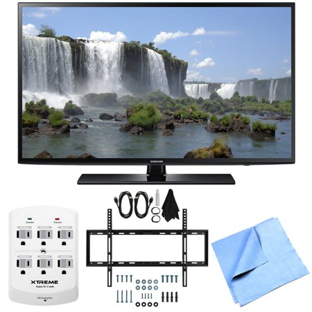 Samsung UN40J6200 40-Inch Full HD 1080p 120hz Smart LED TV Mount/Hook-Up Bundle includes 40-Inch HD Smart TV, Slim Flat Wall Mount Bundle Kit, 6 Outlet Wall Tap w/ 2 USB Ports and Beach Camera Cloth