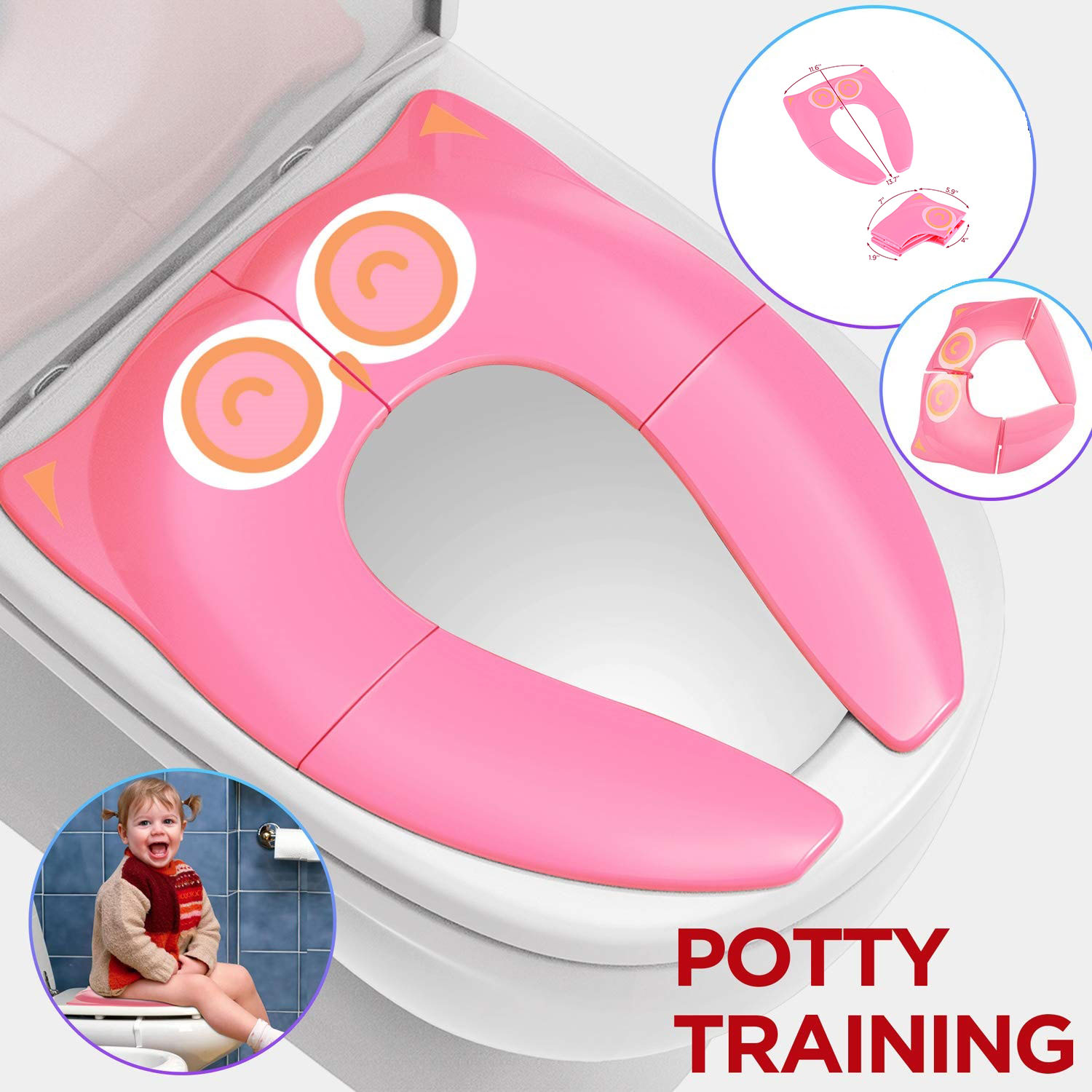 Potty Training Potable Seat Folding Toddler Toilet Seat Cover for Girl Boys