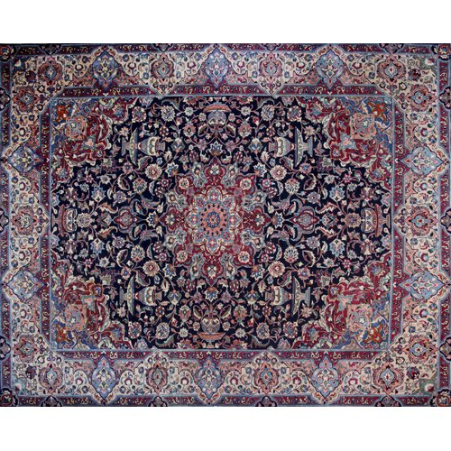 Isabelline One-of-a-Kind Pitchford Hand-Knotted 9'10'' x 12' Purple/Red Area Rug