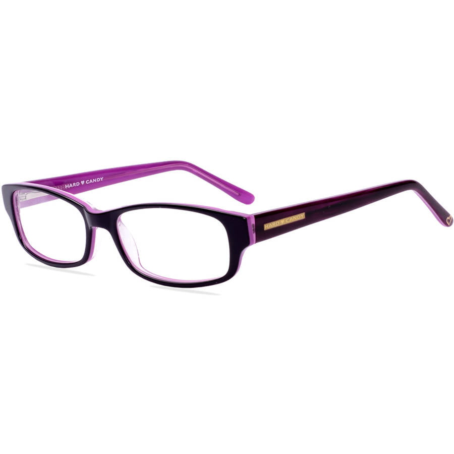 hard candy womens prescription glasses hc04 dark purple