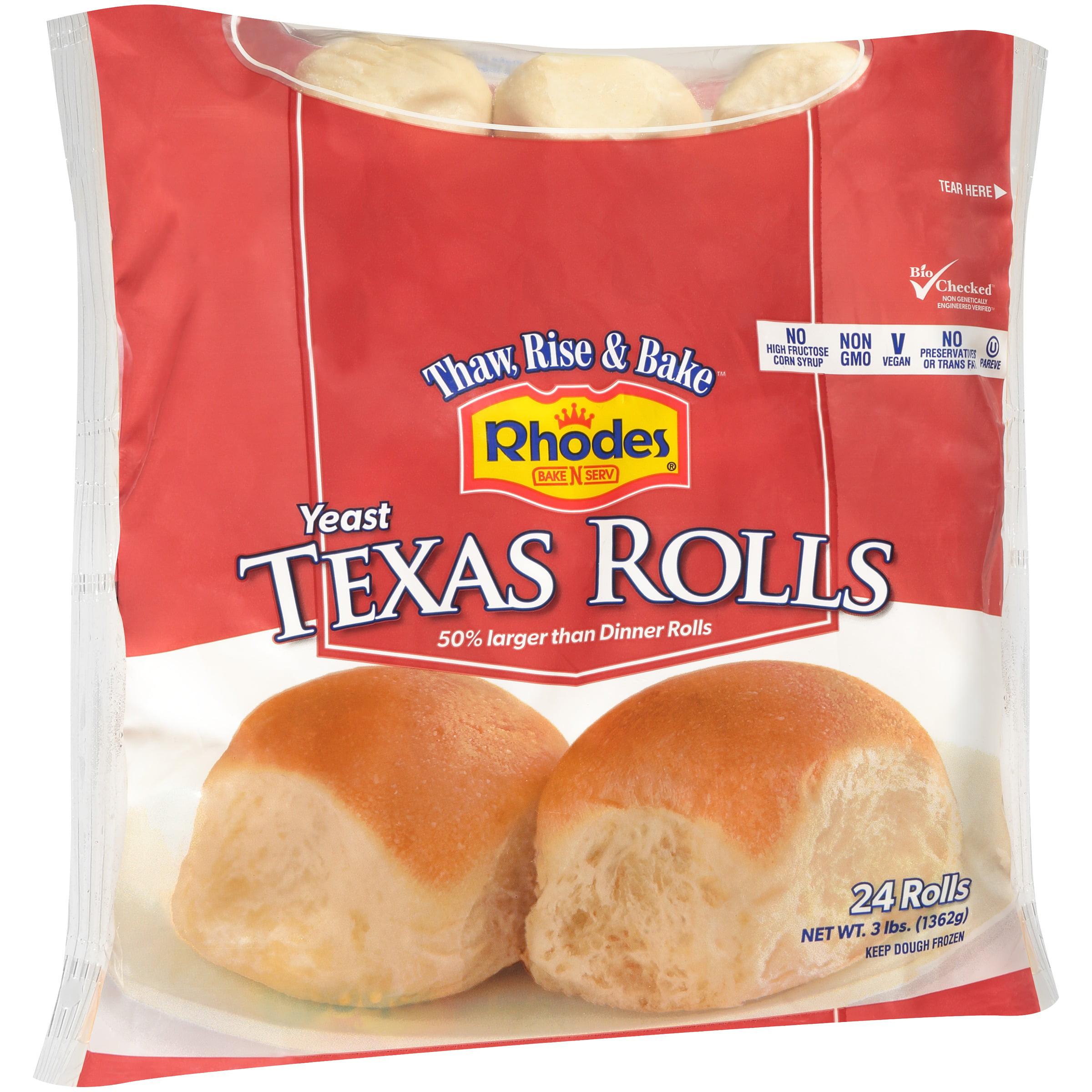 Rhodes Bake N Serv Rhodes Bake N Serv Texas Rolls 24 Ea Walmart