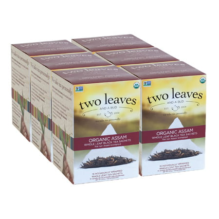Two Leaves and a Bud, Inc., Organic Assam Breakfast Black Tea, 15 Count