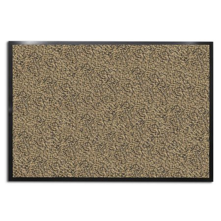 casa pura® Entrance Door Mat | Entryway Floor Mat | Highly absorbent & non-slip Indoor & Outdoor Carpet | Beige - 24'' x 36''
