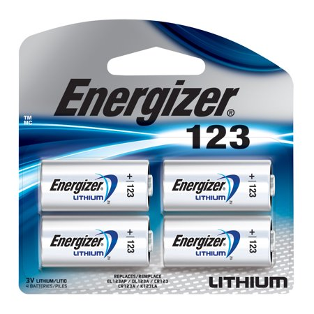 Energizer 123 Lithium Photo Battery   4 Pack