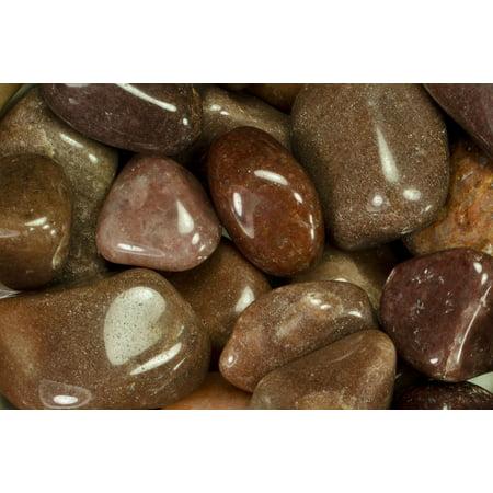 "Fantasia Crystal Vault: 1/2 lb High Grade Red Aventurine Tumbled Stones - Medium - 1"" to 1.5"" Average - Raw Natural High Quality Crystals & Rocks"