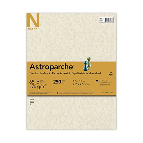 Astroparche Specialty Card Stock, 65lb, 8 1 2 X 11, Natural, 250 SHeets by 0