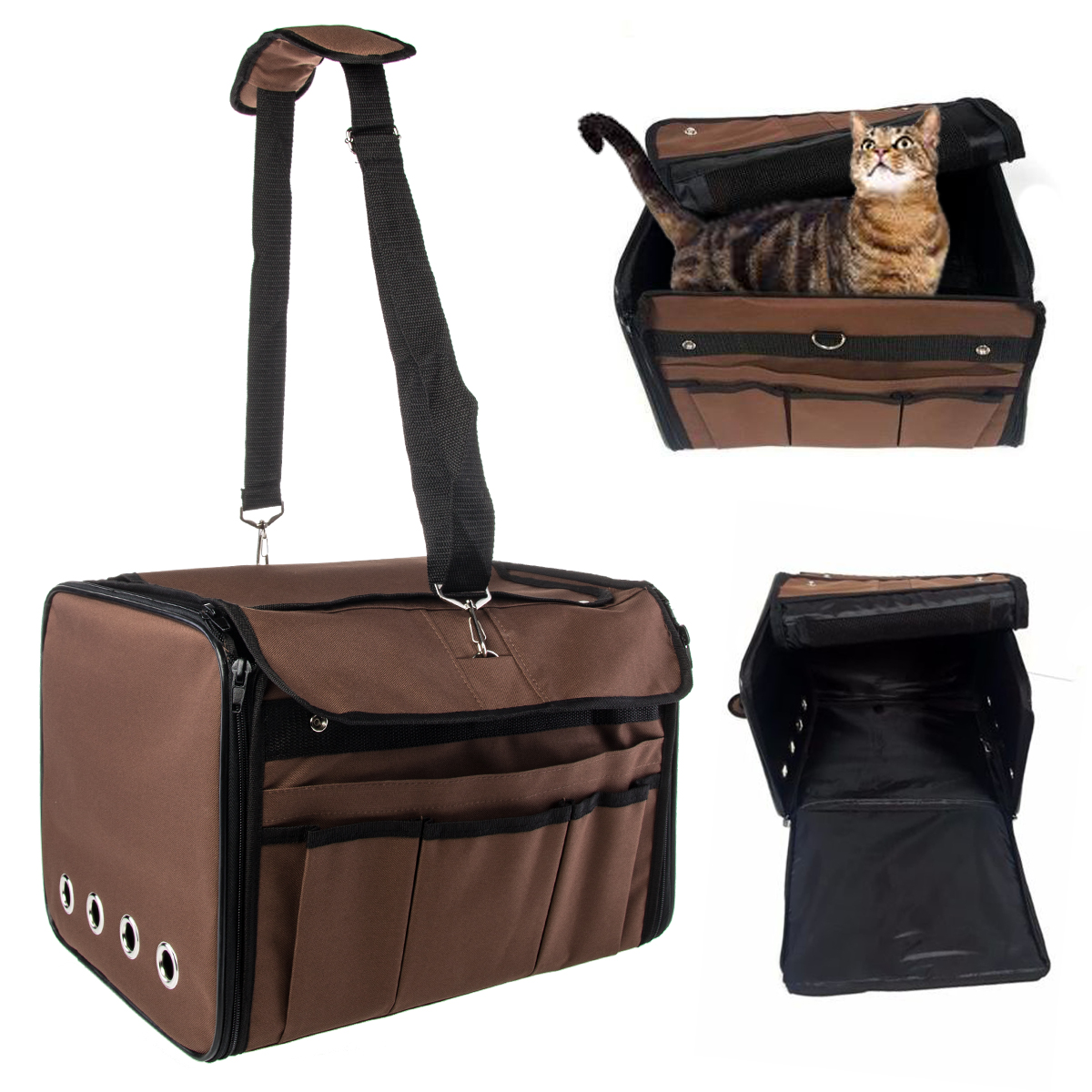 Pet Carrier Travel Bag Small Dogs Cats Airline Approved Animal Crate Under Seat