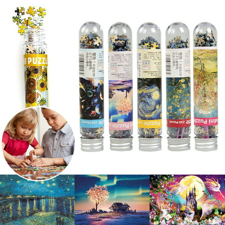 234 Piece Mini Test Tube Puzzle Decompression Game Jigsaw Intelligence Educational Interesting Toy Adults Puzzles Personalized DIY Kids Gift 6x4 Inch For Indoor Games Silver Puzzle Piece