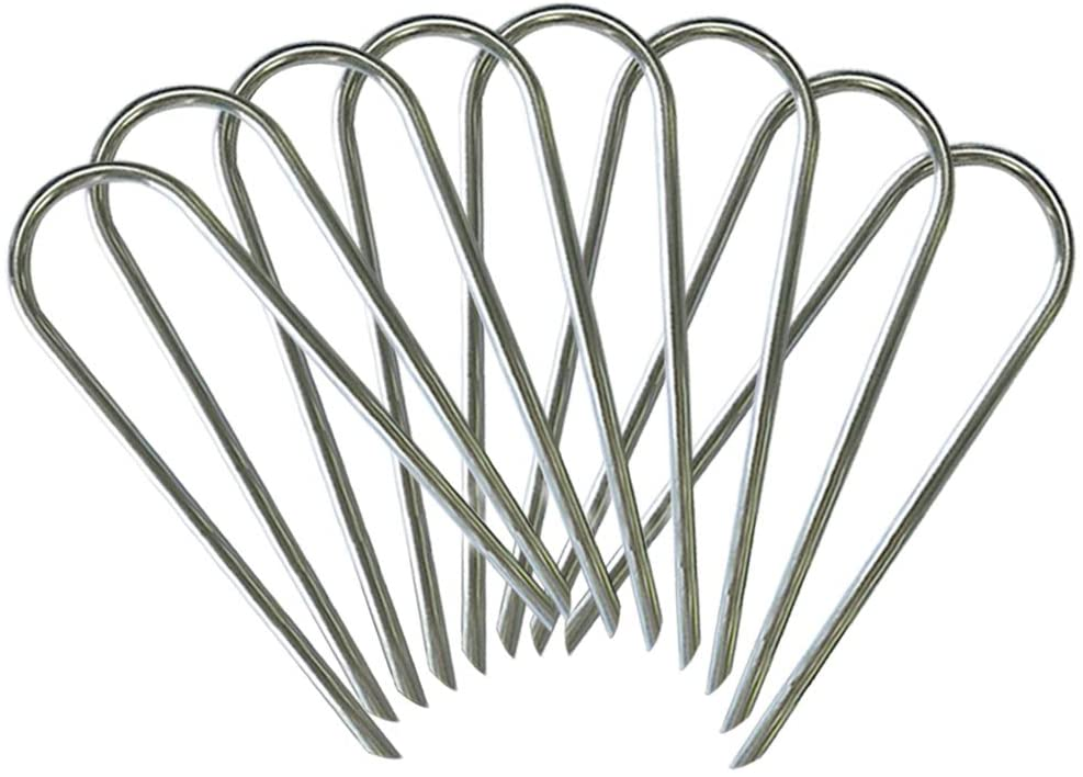 Zoomster Trampolines Wind Stakes Trampoline Accessories Stakes Anchor Galvanized Steel 8 Pack