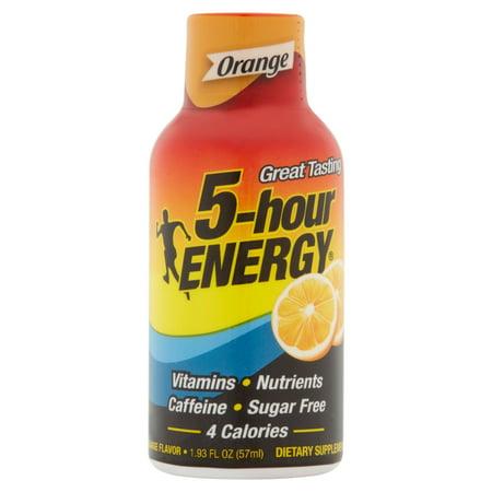 5 Hour Energy Great Tasting Orange Flavor Energy Drink  1 93 Fl Oz