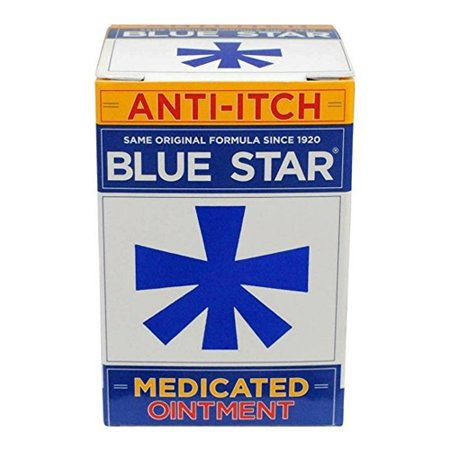 Medicated Antifungal - Blue Star Anti-Itch Medicated Ointment - 2 Oz