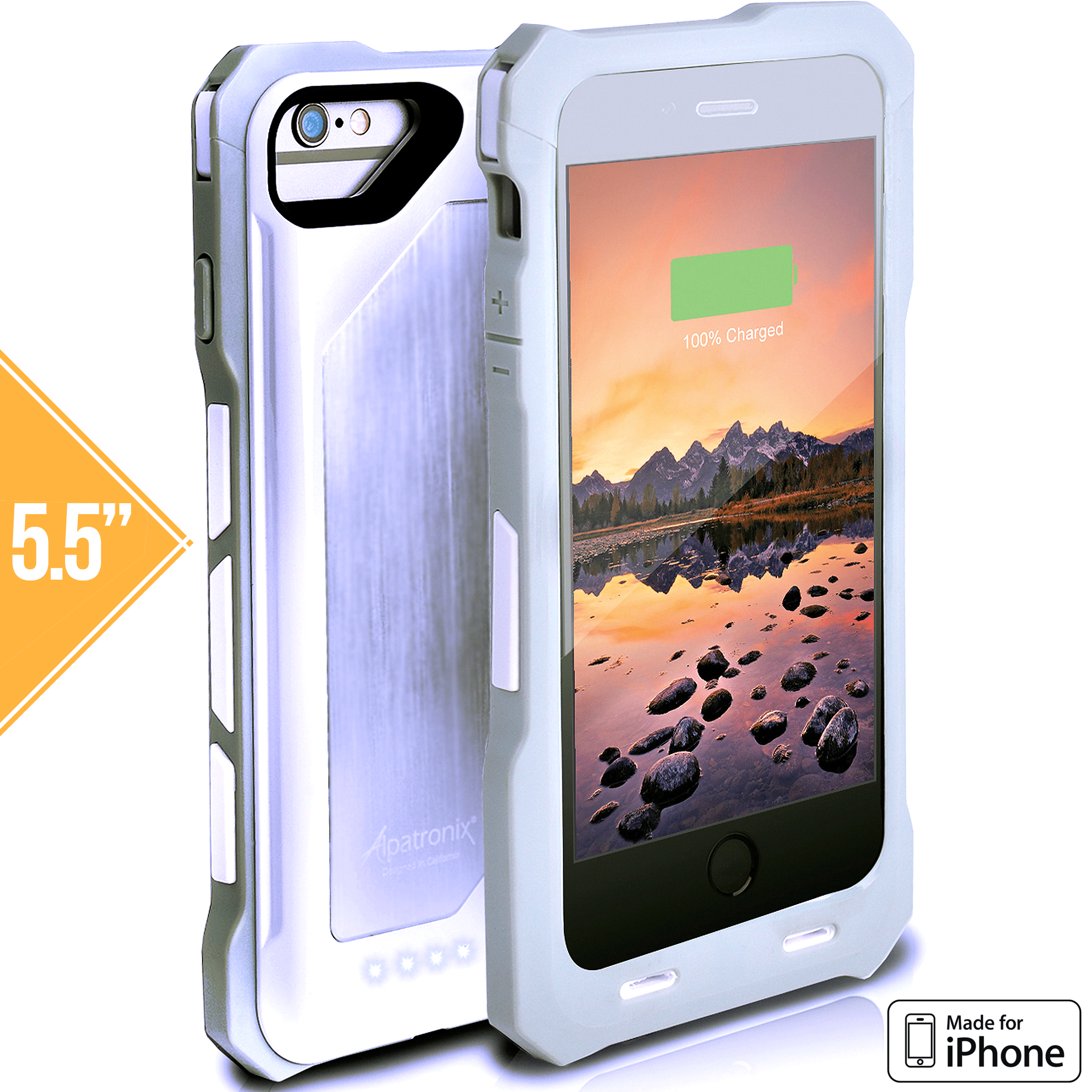 Alpatronix BX150plus 4000mAh Shockproof Battery Charging Case for iPhone 7 Plus, 6S Plus, 6 Plus