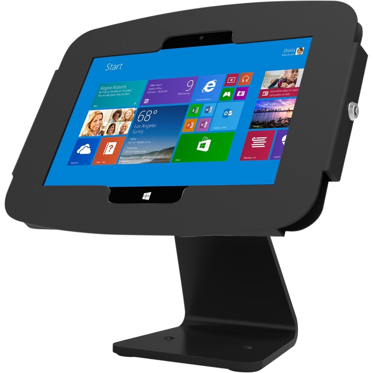 Compulocks Space Surface Tablet Enclosure 360 Kiosk - Surface Kiosk - Surface Pro Enclosure - Black